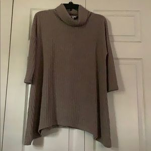 3/4 sleeve brown top
